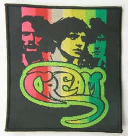 Cream - 'Heads' Woven Patch